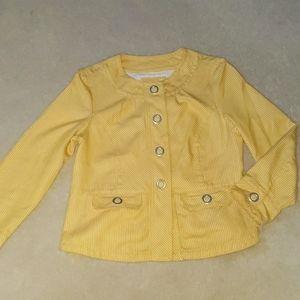 Yellow pinstripe dressy jacket/blazer